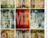 digital collage FLourish Grunge for ATCs $3.25