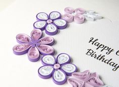 Unique 60th Birthday Card Quilling Paper by PaperParadisePL