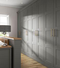 Built In Cupboards Bedroom, Bedroom Built In Wardrobe, Grey Cupboards, Fitted Bedroom Furniture, Fitted Bedrooms, Closet Bedroom, Cupboard Design For Bedroom, Wardrobe Room, Wardrobe Door Designs