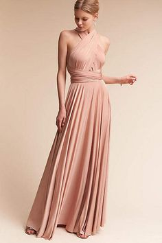 So pretty!!! Anthropologie Ginger Convertible Maxi Wedding Guest Dress #affiliate