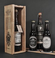 Publican Brewing Company releases its new packaging - Great classic design with a modern twist. And how quaint are the little labels tied to the bottles with string! #Beer #Packaging #Design
