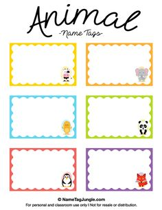 Free Printable Monster Name Tags The Template Can Also Be Used For - Locker tag templates