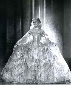 "Norma Shearer in ""Marie Antoinette"" ~ gown by Adrian"