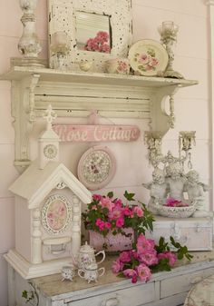 love the birdhouses; maybe paint more colorful and hang or put on shelf with books, etc. - for study (room); perhaps even a few small lamps (scattered) on book shelves for close-lighting..