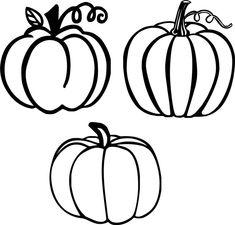 Pumpkin Crafts, Cute Pumpkin, Fall Crafts, Pumpkin Pumpkin, Pumpkin Coloring Pages, Fall Coloring Pages, Art Halloween, Halloween Decorations, Pumpkin Outline