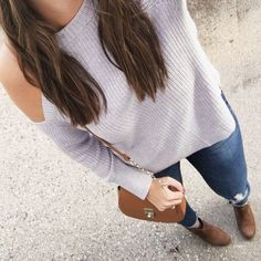 I haven't been staying away from grey for a few years, but this dove shade is calling my name right now. The cut of this cold-shoulder sweater is 👌🏼 I shared it in the my fall under $50 post. It comes in a few gorgeous colors 〰 My booties are old, but everything else is under $50 🙌🏼 Shop this entire look under the shop my instagram tab (link in bio!) #ssCollective #ShopStyleCollective #MyShopStyle #fallfashion #getthelook #todaysdetails