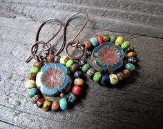 Browse unique items from AllowingArtDesigns on Etsy, a global marketplace of handmade, vintage and creative goods. Browse unique items from AllowingArtDesigns on Etsy, a global marketplace of handmade, vintage and creative goods. Ear Jewelry, Boho Jewelry, Jewelry Crafts, Beaded Jewelry, Jewelery, Silver Jewelry, Jewelry Design, Jewelry Making, Beaded Earrings