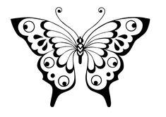 stencil butterfly