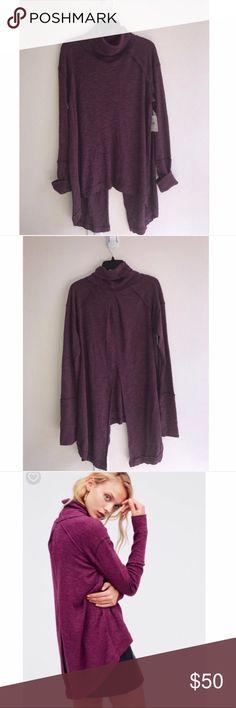 FREE PEOPLE high back slit long sleeve cowl-neck Brand new- never worn, long sleeve, high back slit, cowlneck Free People Sweaters Cowl & Turtlenecks