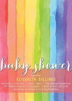 Rainbow Baby Shower Invitations on Pinterest   Rainbow Invitations ...