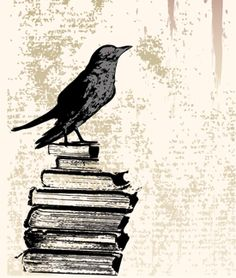 Books with a raven