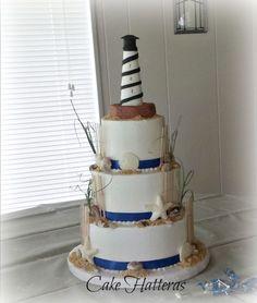 Cape Hatteras Lighthouse Wedding Cake #rebeccaingramcontest #fijiairways #yasawaislandresort