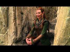 Tauriel Behind The Scenes - Tauriel & Kili Legolas is so funny