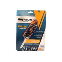 Havalon Knives - Evolve - Multi Tool with Zip Up Carrying Case, Clam Package