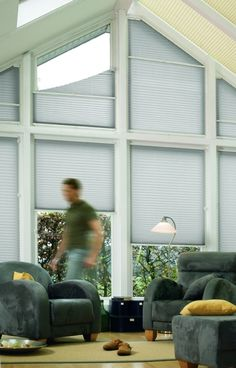perfect blinds for apex window from Curtains With Blinds, Blinds For Windows, Window Curtains, Window Coverings, Window Treatments, Triangle Window, Shaped Windows, Custom Blinds, Hamptons House