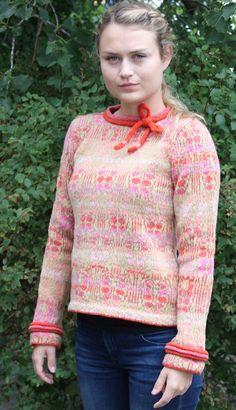 "The bridemaid's festive jacket rose. Kits for my book FANØSTRIK - Colours of Fanø - You find the knittingpattern in my Knittingbook ""Fanøstrik - Colours of Fanø"""