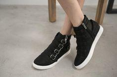 FM Shoes - Belted High-Top Sneakers #sneakers #beltedsneakers #hightopsneakers