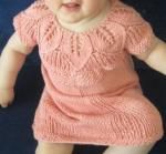 Knitted dress with leaf pattern
