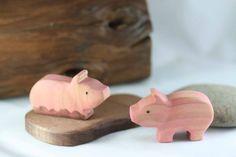 Porcs et Mud Puddle jouet en bois Playset  par TwoRaccoonHollow