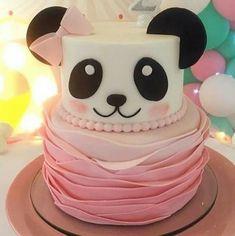 Panda Birthday Cake, Girl Birthday, Happy Birthday, Birthday Animals, Panda Party, Bear Party, Bolo Panda, Panda Baby Showers, Panda Cakes