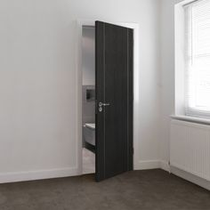 JB Kind Internal ARGENTO Pre-Finished Painted Ash Grey Vertical Grooved Door | Door Superstore®
