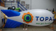 Tell the world about your business with a fabulous inflatable blimp #advertising