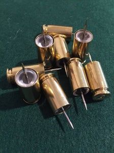 Brass Push Pins 40 Caliber Smith Wesson Empty Bullet Shells Used Spent Casings Unique Ammo Thumb Tacks Set of 9 Pcs Smith Wesson, Bullet Casing Crafts, Bullet Crafts, Ammo Jewelry, Bullet Jewelry, Diy Jewelry, Shell Jewelry, Bullet Art, Bullet Shell