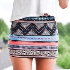 Tribal print skirt with flowy top Tribal Skirt Outfit, Aztec Skirt, Tribal Print Skirt, Tribal Skirts, Beautiful Outfits, Cool Outfits, Summer Outfits, Fashion Outfits, Womens Fashion