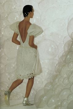 Chanel. Loved this show. The pearls down the back? Perfect.