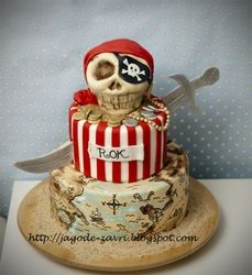 Incredible pirate cake for that special pirate party!