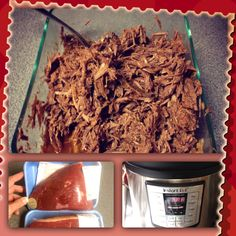 Electric Pressure Cooker SHREDDED BEEF: 3&1/2 Lb Rump Roast, 14oz can Tomatoes, 32oz Beef Broth, 2 tsp Cumin, 1 Tbsp Oregano Leaves, 3 Tbsp Chili Powder, 1 tsp Onion Powder. Secure lid & set cook time 90 min. Release pressure, remove Beef & rest to cool 20 min. Drain half the liquid, shred Beef back to cooker w/3 cloves minced Garlic, 1/2 a Red Onion &1 Hatch Pepper-opt. Secure lid & re-set cook time to 10 min. Release pressure & enjoy!