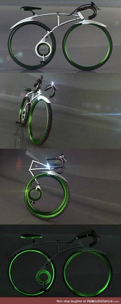 Clever folding bicycle