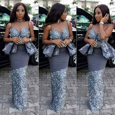 Latest Aso Ebi Dresses Pictures 2019 People accept consistently captivated western pieces over ours; aso ebi appearance was actual while Ankara accidental Aso Ebi Lace Styles, Lace Gown Styles, African Lace Styles, Latest Aso Ebi Styles, African Lace Dresses, African Dresses For Women, African Attire, African Wear, African Fashion Dresses