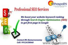 We at Brihaspathi Technologies Pvt Ltd, here we are offering professional SEO Training in Hyderabad with affordable prices. We are offering SEO, SMO and PPC training with 5000/- and no institute giving this type offer,call immediately for free demo. For more details; Call 9989993242.