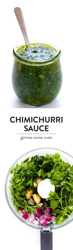 Chimichurri Sauce - Easy to make in the food processor or blender, and it's full…