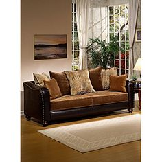 @Overstock - Add a luxurious touch to your home decor with this Classic Valira sofa. The sofa features chenille upholstery and faux leather accents.  http://www.overstock.com/Home-Garden/Classic-Leatherette-Valira-Sofa/6737149/product.html?CID=214117 $999.99