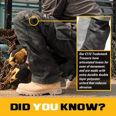 Did You Know ? #InternationalThursday #BuiltForIt #catapparel #workwear #C172 #TrademarkTrouser #DidYouKnow