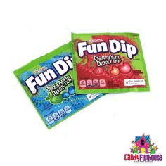 Fun Dip is an original candy from the that was originally called Lik-M-Aid. These Fun Dip come in 2 different flavours. 1970s Candy, Retro Candy, Vegan Candy List, Bubble Yum, Candy Cigarettes, Nostalgic Candy, Fun Dip, Online Candy Store, Vegan Candies