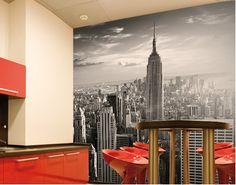 "Photo Wall Mural - with glue no.51 ""MANHATTAN SKYLINE"" 300x280cm"
