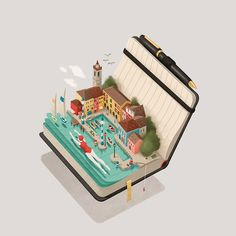 Illustrated calendar focused on the most wonderful locationsin northern Garda lake.