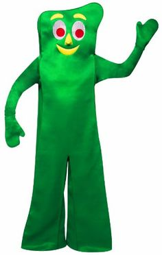 Rasta Imposta Gumby Costume, Green, One Size Halloween Spirit Discount Halloween Costumes, Halloween Outfits, Cool Costumes, Adult Costumes, Halloween Clothes, Costume Ideas, Cartoon Character Halloween Costumes, Gumby And Pokey