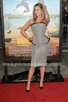 Jennifer Aniston Dress at Wanderlust Los Angeles Premiere - Arrivals (MF6488)
