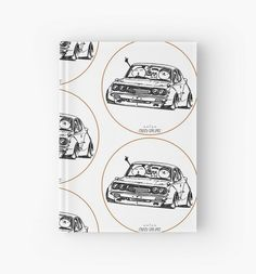 'Crazy Car Art Hardcover Journal by ozizo Car Illustration, Weird Cars, Kustom Kulture, Old School, Japanese, Journal, Drawings, Artwork, Sketches