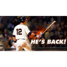 Welcome back, Joe. #SFGiants