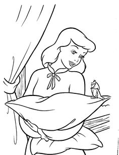 Coloring Sheets Cinderella Pages