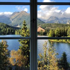 Beautiful Slovakia. High Tatras from  Kempinski Hotel window.