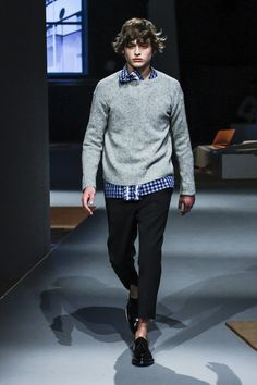I can totally see a woman wearing this - Prada Men FW 2013