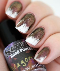Messy Gradient topped with SoFlaJo Dragon Heart   Manicurity