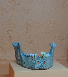 carved skull. one of my favorite pieces in the museo de arte prehispanico rufino…