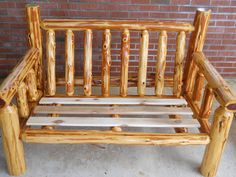 Mcqueen Rustic Furniture's Cedar Log Love Seat